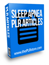sleep apnea plr articles