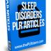 sleep disorders plr articles