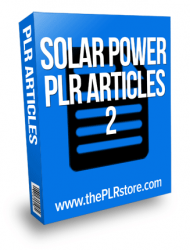 solar power plr articles solar power plr articles Solar Power PLR Articles 2 solar power plr articles 2 190x250