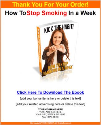 stop smoking in a week plr ebook