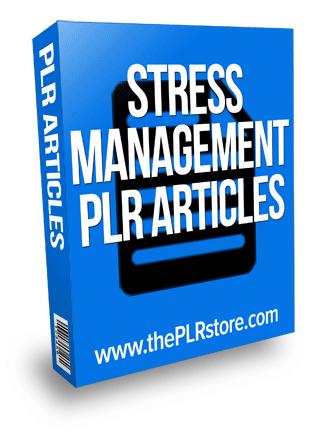 stress management plr articles