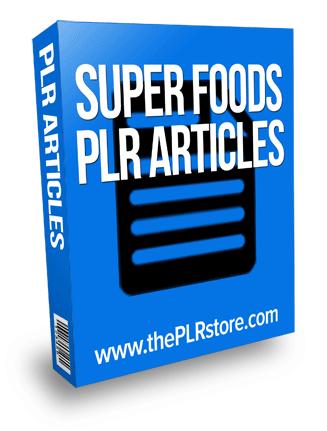 super foods plr articles