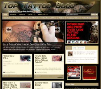 Top Tattoo PLR Website with Private label rights top tattoo plr website main 327x287