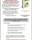 traffic-tips-for-beginners-plr-ar-series-squeeze-page