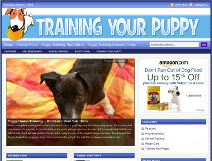 training-your-puppy-plr-website-cover