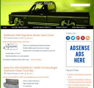Truck Accessories PLR Amazon Store Website truck accessories plr amazon store website cover 327x308