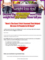 weight loss plr list building