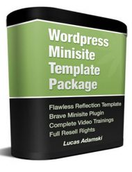 wordpress plr minisite template