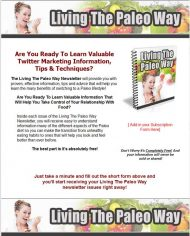 private label rights Private Label Rights and PLR Products living the paleo diet way plr ar series squeeze page