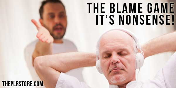 The Blame Game – Your Talking Nonsense the blame game
