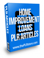 home-improvement-loans-plr-articles