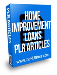 home-improvement-loans-plr-articles