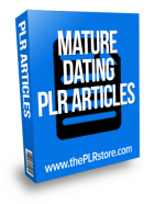 mature dating plr articles