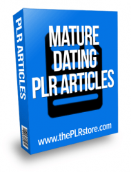 mature dating plr articles