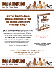 dog adoption plr autoresponder messages