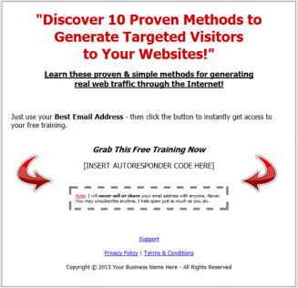 website traffic methods videos