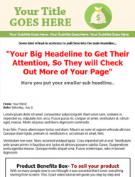 green salespage squeeze page website template