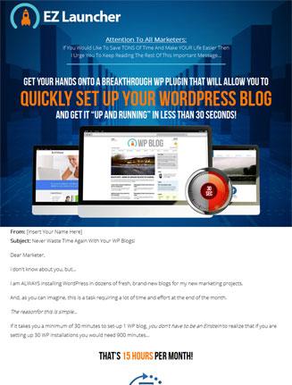 wordpress ez launcher plugin wordpress ez launcher plugin Wordpress EZ Launcher Plugin with Master Resale Rights wordpress ez launcher plugin