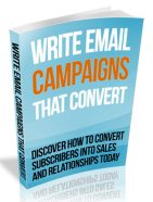 write email campaigns that convert plr ebook