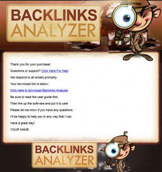 backlinks analyzer plr software
