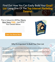 private label rights Private Label Rights and PLR Products forum list building ebook squeeze page