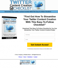 twitter content creation checklist private label rights Private Label Rights and PLR Products twitter content creation checklist squeeze page