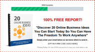 private label rights Private Label Rights and PLR Products online business ideas report squeeze page