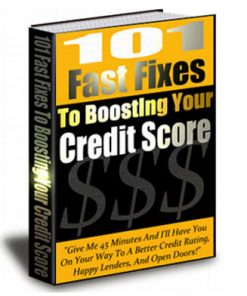 101 Fast Fixes to Boosting Your Credit Score PLR eBook