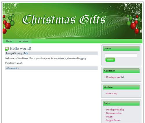 12 PLR Christmas Wordpress Theme Templates