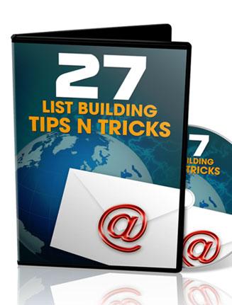 list building tips plr videos