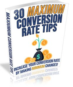 30 Maximum Conversion Rate Tips PLR Ebook