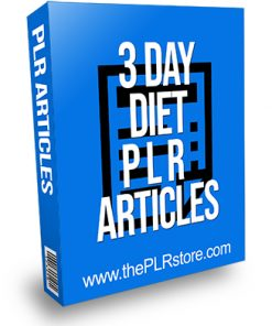 3 Day Diet PLR Articles
