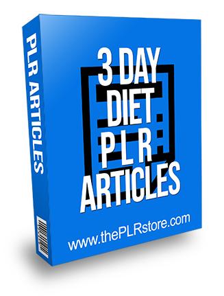 3 Day Diet PLR Articles
