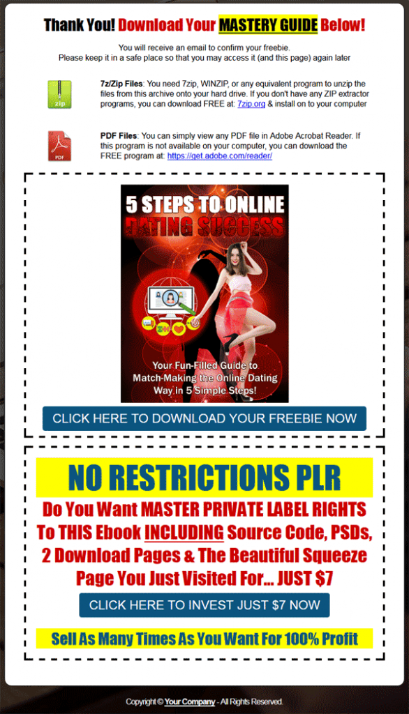 5 Steps to Online Dating Success PLR eBook