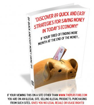 89 Money Saving Tips PLR 89 money saving tips plr ebook cover 327x367