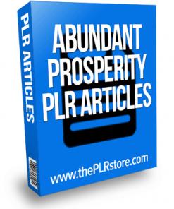 abundant prosperity plr articles