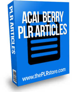 acai berry plr articles