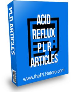 Acid Reflux PLR Articles