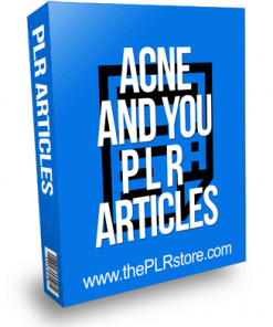 Acne And You PLR Articles