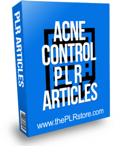Acne Control PLR Articles