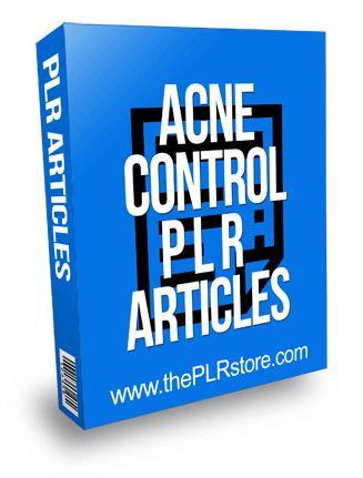 Acne Control PLR Articles