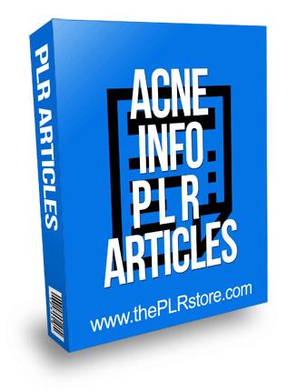 Acne Info PLR Articles