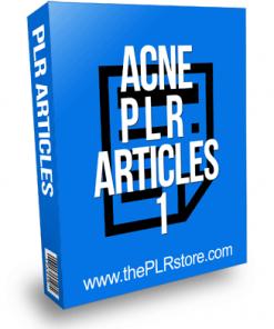 Acne PLR Articles 1