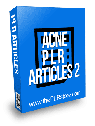 Acne 2 PLR Articles