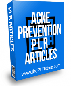Acne Prevention PLR Articles