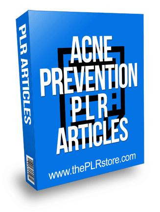 Acne Prevention PLR Articles