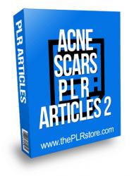 Acne Scars PLR Articles 2