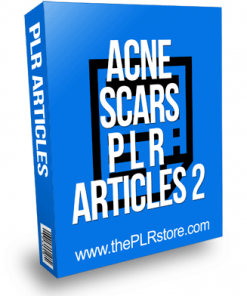 Acne Scars PLR Articles 2