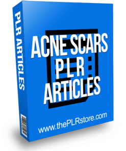 Acne Scars PLR Articles