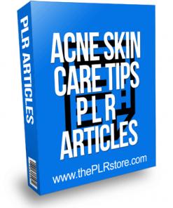 Acne Skin Care Tips PLR Articles